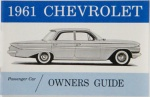 1961 Chevy Car Owners Manual