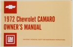 1972 Camaro Owners Manual