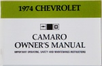 1974 Camaro Owners Manual
