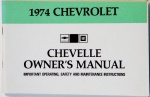 1974 Chevelle Owners / El Camino Owners Manual