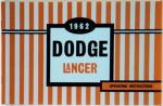 1962 Dodge Lancer Owners Manual