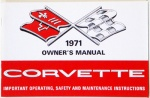 1971 Corvette Owners Manual