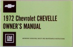 1972 Chevelle Owners / El Camino Owners Manual