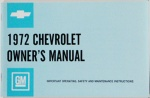 1972 Chevy Car Owners Manual