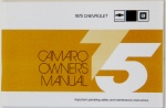 1975 Camaro Owners Manual