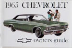 1965 Chevy Car Owners Manual