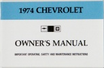 1974 Chevy Car Owners Manual