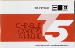1975 Chevelle Owners / El Camino Owners Manual