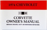 1974 Corvette Owners Manual