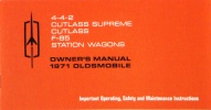 1971 Oldsmobile Owner's Manual:4-4-2,Cutlass Supreme,Cutlass, F-85,Station Wagons