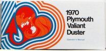 1970 Plymouth Valiant / Duster Owners Manual