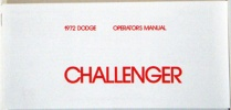 1972 Dodge Challenger Owners Manual