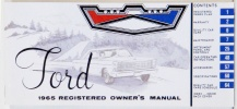 1965 Ford Car Owners Manual
