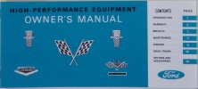 1964-65 Ford High Performance Owners Manual.