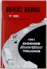 1961 Dodge Truck Owners Manual