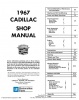 1967 CADILLAC REPAIR MANUAL & BODY MANUAL - ALL MODELS