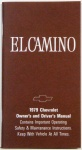 1979 El Camino Owners Manual