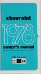 1978 Chevy Car Owners Manual