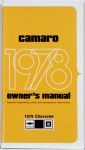 1978 Camaro Owners Manual