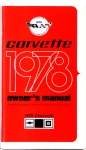 1978 Corvette Owners Manual