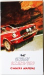 1967 Shelby Mustang Owners Manual