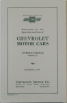 1929 Chevy Car Owners Manual