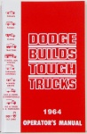 1964 Dodge Truck Owners Manual