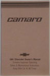 1981 Camaro Owners Manual