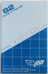 1982 Corvette Owners Manual