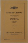 1928 CHEVROLET CAR OWNERS MANUAL