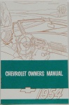 1954 Chevy Car Owners Manual
