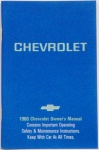 1980 Chevy Car Owners Manual