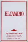 1983 El Camino Owners Manual